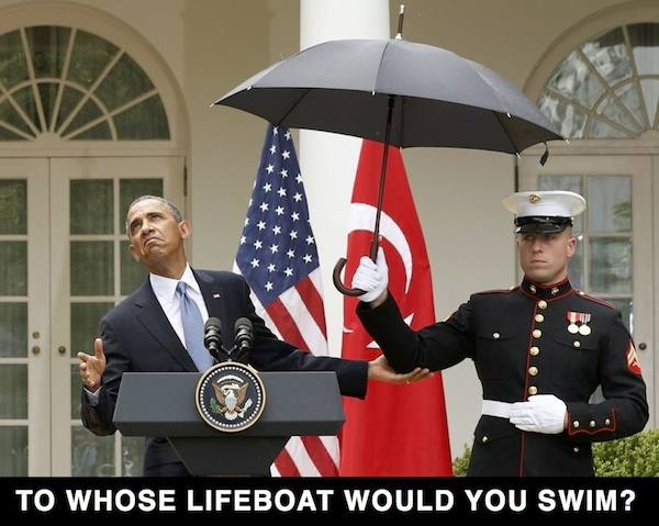To whose lifeboat would you swim?
